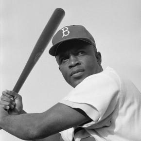 Jackie Robinson of the Brooklyn Dodgers, https://en.wikipedia.org/wiki/File:Jackie_Robinson,_Brooklyn_Dodgers,_1954.jpg