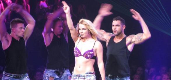 Britney Spears in the Femme Fatale Concert. Steven.I/Flickr.