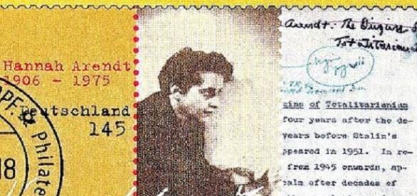 Hannah Arendt sur un timbre allemand à sa mémoire imprimé en 2006