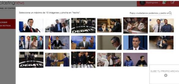 Cómo subir imágenes a Blasting News