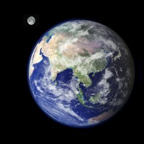 Daily Kos: hsnydick The Earth and the moon
