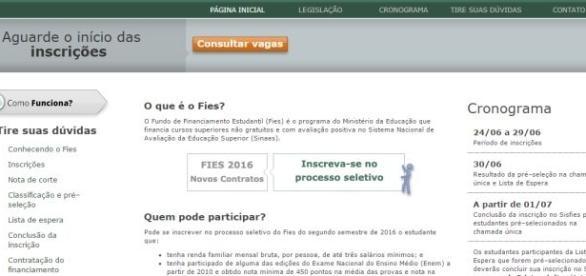 As inscrições para a segunda edição do Fies 2016 deverão ser feitas somente pela internet.