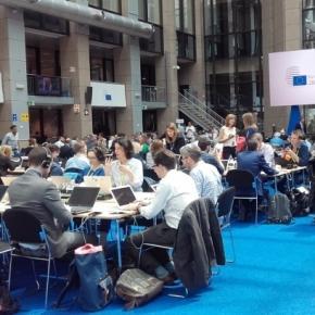 La salle de presse très bien garnie lord de cet important Conseil européen. Photo [c] Robert Genicot