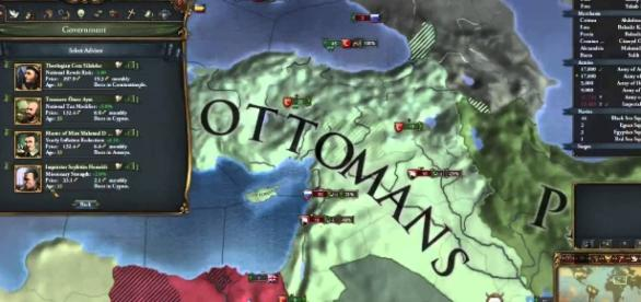 Map of Ottoman Empire (YouTube)