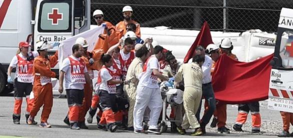 Luis Salom evacuado al Hospital General de Catalunya