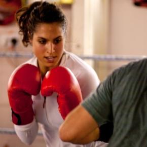 Girl in boxer position. David Rosen/Flickr.
