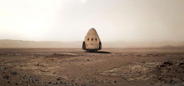 Red Dragon on Mars (SpaceX Public domain)