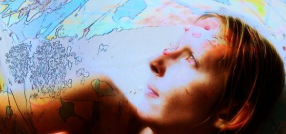 Mélangeant photo et graphisme, un de mes portraits par Serge.