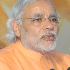 Modi the leader who has donned the mantle after Gandhi (Wikimedia)