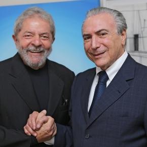 Luiz Inácio Lula da Silva e Michel Temer