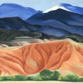 "Georgia O'Keeffe, ""Black Mesa Landscape,"" New Mexico Creative Commons"