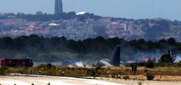 Aeronave incendiou-se na pista da Base Aérea nº 6, no Montijo