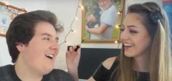 Ben in his latest video with the mystery girl... screenshot from youtube.com