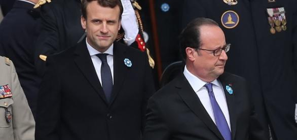 Emmanuel Macron et Francois Hollande