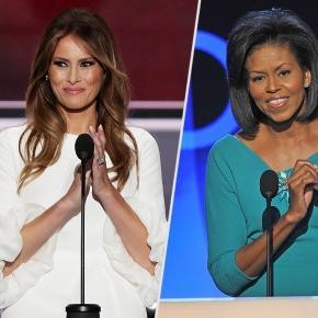 Melania Trump, Michelle Obama's Similar Convention Speeches ... - people.com