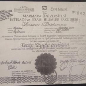 Diploma fără de care Erdogan nu ar fi putut fi preşedinte în Turcia
