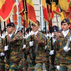 Défilé militaire le 21 Juillet 2015 à Bruxelles. Crédit photo, Hugues SEUMO