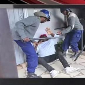 Police vs protestor/ Photo screecap via Adeola Fayehun, Youtube