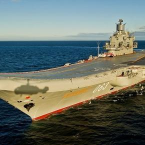 Portavionul rusesc Amiral Kuznețov la participa la misiuni în Siria din Marea Mediterană