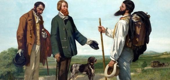 """Courbet """"La Rencontre"""" ou """"Bonjour Mr Courbet"""" 1854"""