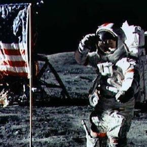 NASA Apollo 17 Moon Landing Photo