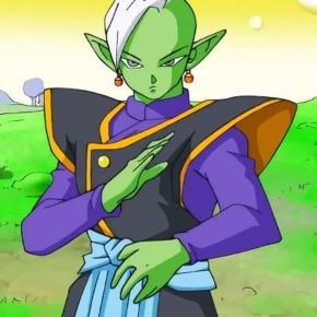 Zamasu a punto de pelear con Goku