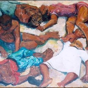 Painting of the Sharpeville Massacre of March 1960