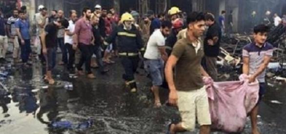 Două atentate cu bombă au făcut câteva sute de victime la Bagdad