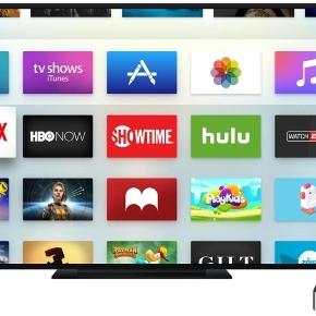 tech  apple television and high definition screens