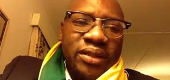 Zimbabwe. Pastor Evan Mawarire, image screencap via Facebook video