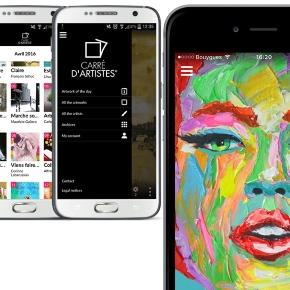 carre d 39 artistes launches app dedicated to contemporary art. Black Bedroom Furniture Sets. Home Design Ideas