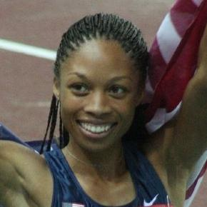 Allyson Felix celebrating her win in Osaka. Courtesy: Wikimedia Commons