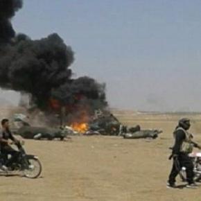 Elicopterul rus doborât de combatanții arabi
