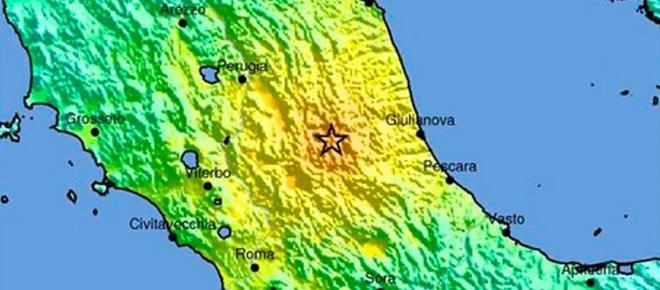 Fuerte terremoto en el centro de Italia