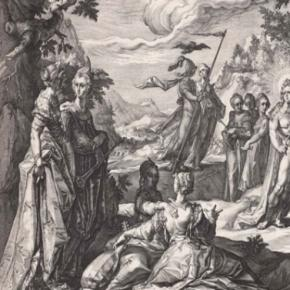 """Hendrick Goltzius engraving """"The Judgment of Midas,"""" (detail), 1590 © Courtesy of The Museum of Fine Arts Boston Creative Commons"""