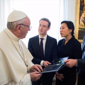 Mark Zuckerberg meets Pope Francis in Rome, gives him miniature ... - kopitiambot.com