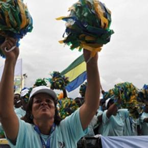 Electeurs gabonais en pleine campagne présidentielle. Crédit images ISP