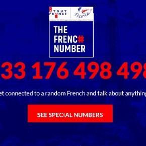 Le site The French Number de l'agence Atout France (montage Jef T.)