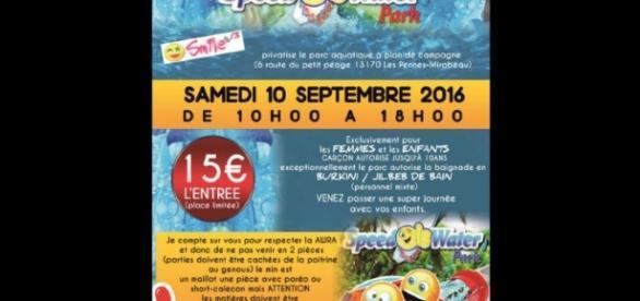 L'affiche de l'association Smile 13 prône le port du burkini et du jilbeb lors de cet événement
