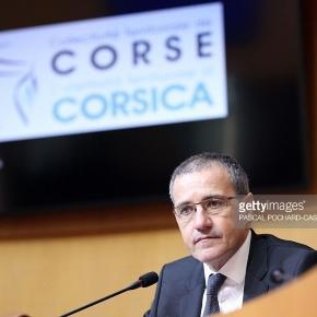 Le Président de l'Assemblée de Corse Jean-Guy Talamoni
