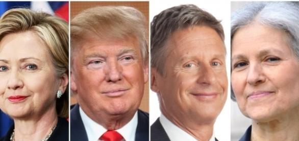 Les 4 candidats à la course à la Maison Blanche