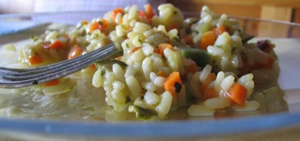 Riso gratinato alle verdure, gustoso!