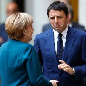 Matteo Renzi a colloquio con Angela Merkel
