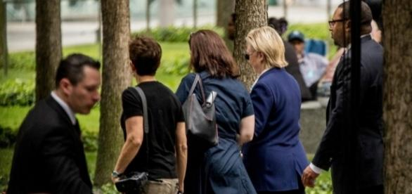 Clinton falters at 9/11 memorial; doctor says she has pneumonia ... - columbian.com