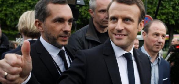 Emmanuel Macron en chemin vers l'Elysee