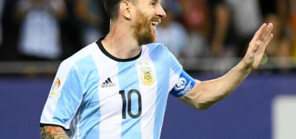 Messi volvió a vestir la camiseta de la Selección y volvió a gritar. FOTO: LA NACION