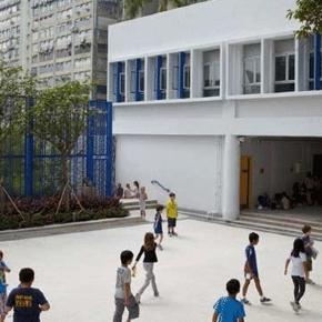 Une cour de récréation en collège : pas sûr que toutes et tous veuillent rester scolarisés jusqu'à 18 ans