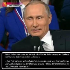 Lichatschow zum Unterschied von Nationalismus und Patriotismus