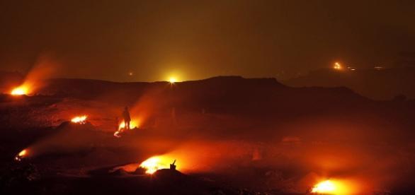 Mina de cărbuni Jharia arde neintrerupt de 100 de ani