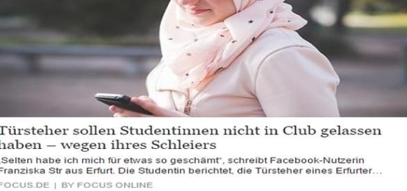 Wegen Hijab nicht zum Saufen in einen Kuffar-Klub gelassen. Ist es wieder soweit in Deutschland? Nichts aus NSU gelernt?